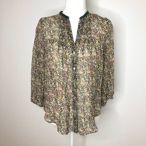 Antho / FEI silk multicolored tunic blouse, size 8